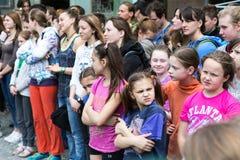 Церемония открытия взбираясь чемпионата - группы в составе дети Стоковые Изображения