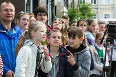 Церемония открытия взбираясь чемпионата - группы в составе дети Стоковые Фото