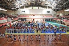 Церемония открытия--Конкуренция Тхэквондо седьмой чашки GoldenTeam дружелюбная Стоковые Изображения