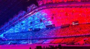 Церемония открытия Олимпийских Игр Сочи 2014 стоковое изображение