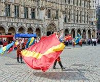 Церемония плантации Meyboom в Брюсселе Стоковые Фото