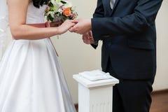 Церемония ритуала свадьбы стоковая фотография