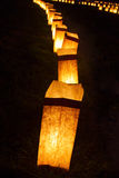Церемония света горящей свечи Стоковая Фотография RF