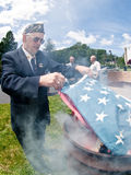 Церемония флага горящая Стоковое Изображение RF