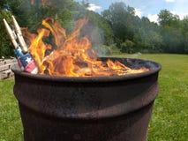 Церемония флага горящая Стоковое фото RF