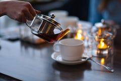Церемония чая в кафе стоковое фото rf
