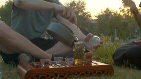 Церемония чая в парке акции видеоматериалы