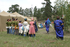 Церемония шамана в buriatia Стоковые Фотографии RF