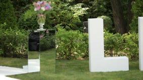 Церемония любовного письма и таблицы Стоковая Фотография RF