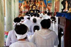 Церемония Cao Dai в Вьетнаме Стоковые Фото