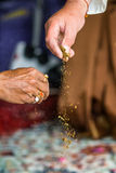 Церемония Haldi, индийское венчание Стоковые Фотографии RF