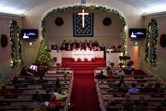 Церковная служба рождества стоковое изображение rf