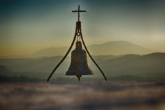 Церковный колокол с крестом Стоковые Фото