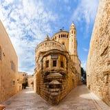 Церковь аббатства Dormition старый городок Иерусалим Израиль Стоковое Изображение RF