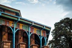 Церковь Аддис-Абеба Эфиопия Entoto Maryam стоковые изображения rf