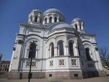 Церковь Архангела St Michael в Каунасе стоковое изображение rf
