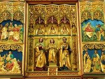 церковь, архитектура, вероисповедание, собор, искусство, висок, святой, внутренний, бог, алтар, религиозный, строить, старый, chr стоковое изображение rf
