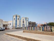 Церковь Африки в rei соли, перспективе горжетки стоковое изображение