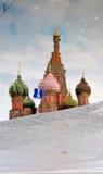 Церковь базиликов Святого квадрат moscow красный Наследие ЮНЕСКО Стоковая Фотография