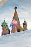 Церковь базиликов Святого квадрат moscow красный Наследие ЮНЕСКО Стоковое Изображение RF