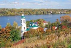 Церковь Барбары Святого в Ples, России Стоковые Изображения RF