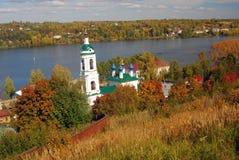 Церковь Барбары Святого в Ples, России Стоковое Изображение RF