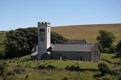 церковь более manorbier южный вэльс Стоковые Фотографии RF