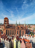 Церковь благословленной девой марии в Гданьске, Польши Стоковые Фото