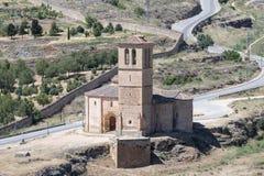Церковь Веракрус средневековая, старая templar церковь в Сеговии Стоковое фото RF