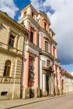 Церковь взгляда со стороны St. John Nepomuk-Kutna Hora Стоковая Фотография