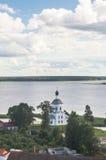 Церковь возвеличивания святого креста, монастырь Nilov, зона Tver стоковая фотография rf