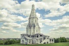 Церковь восхождения в Kolomenskoye стоковое изображение