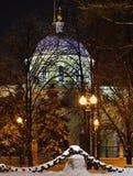 Церковь восхождения около строба Nikitsky в Москве Россия Стоковая Фотография