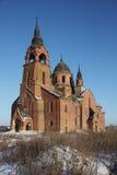 Церковь входа самой святой девственницы в висок (церковь), Pyot Vvedenskaya, область Рязани, Россию Стоковая Фотография RF