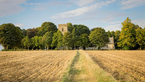 Церковь в английской сельской местности Стоковые Фото