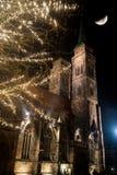 Церковь в Берлине на ноче Стоковые Фотографии RF