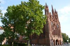 Церковь в Вильнюсе, в Европе стоковые фотографии rf
