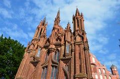 Церковь в Вильнюсе, в Европе стоковая фотография