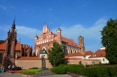 Церковь в Вильнюсе, в Европе стоковое фото rf