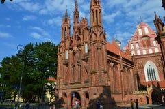 Церковь в Вильнюсе, в Европе стоковое фото