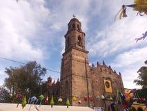 Церковь в городке Мексики Стоковое Фото