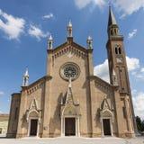 Церковь в готическом стиле возрождения, венето Италия Стоковые Фото