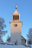 Церковь в зиме, Швеци Dorotea Стоковое Фото