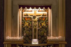 Церковь в кампании Сорренто, Италия Madonna del Кармина Стоковое Изображение