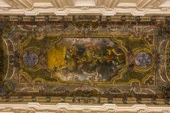 Церковь в кампании Сорренто, Италия Madonna del Кармина стоковая фотография