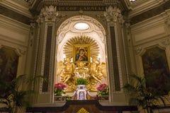 Церковь в кампании Сорренто, Италия Madonna del Кармина стоковые фотографии rf