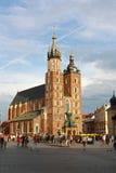 Церковь в Кракове, Польша St Mary Стоковые Изображения