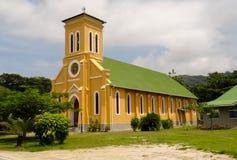 Церковь в Ла Digue - Сейшельских островах Стоковое Изображение RF