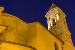 Церковь в Ла Turbie в Франции стоковая фотография rf