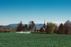 Церковь в национальном парке Saxon Швейцарии в восточной Германии, к юго-востоку от Дрездена стоковые фотографии rf